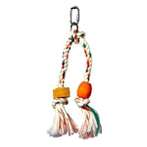 JUNGLEWOOD DOUBLE ROPE TASSEL WITH BLOCK & BEAD 81141