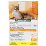 ADVANTAGE FLEA CONTROL FOR CATS 4 MONTHS SUPPLY (SMALL) 46-00339